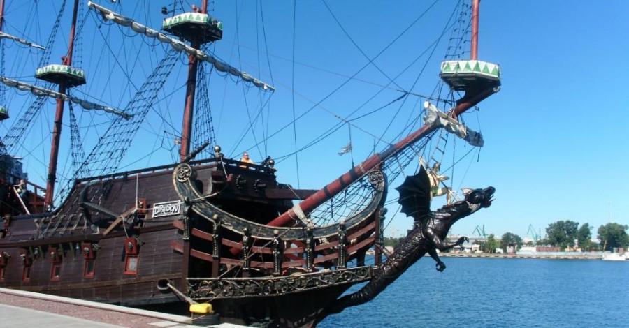 Statek Dragon w Gdyni, mokunka