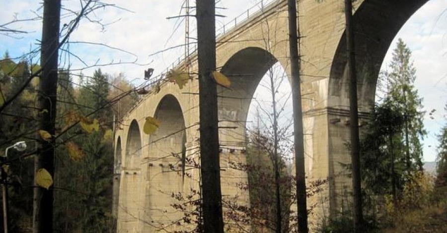 Wiadukt kolejowy w Wiśle - zdjęcie