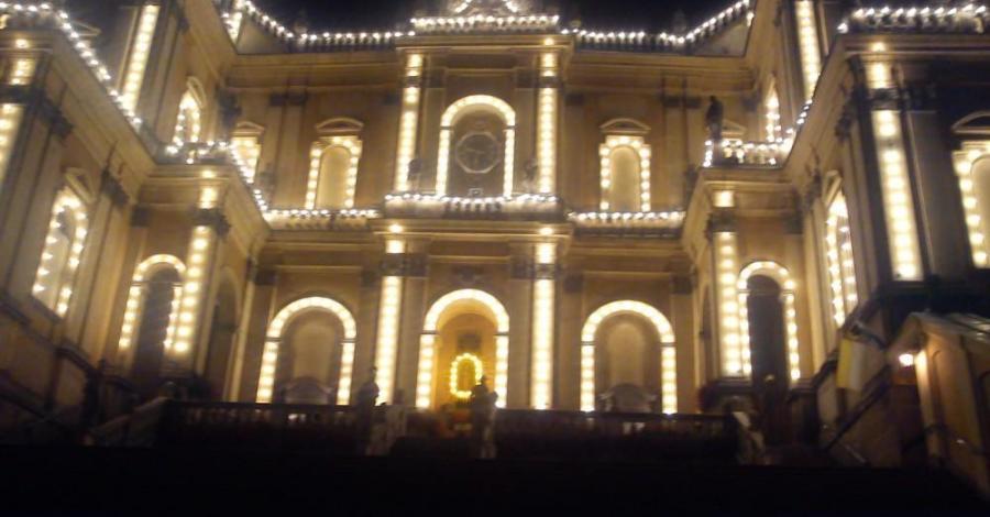 Niespodziewana iluminacja świetlna. - zdjęcie