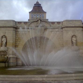 fontanna przy Wałach Chrobrego