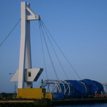kładka przez kanał portowy, Danusia