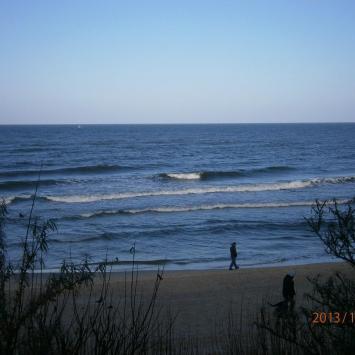 widok na morze z promenady, Danusia