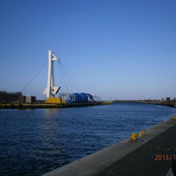 Ustka widok na kanał portowy, Danusia