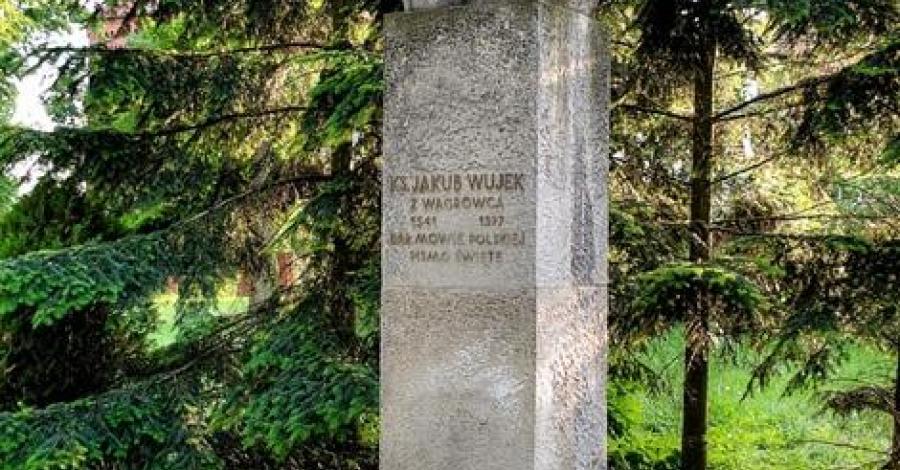 Pomnik ks. Jakuba Wujka w Wągrowcu - zdjęcie