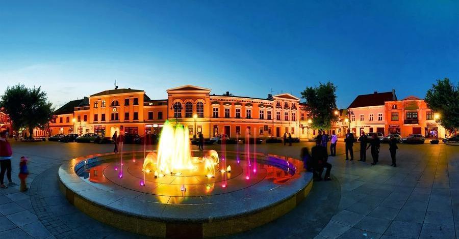 Tańcząca fontanna w Wągrowcu - zdjęcie