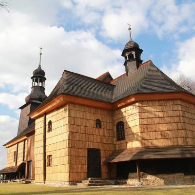 Drewniany kościół w Koszęcinie