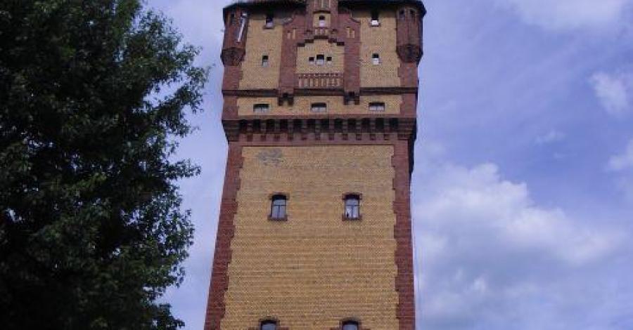 Ściana wspinaczkowa w wieży ciśnień w Kościanie - zdjęcie