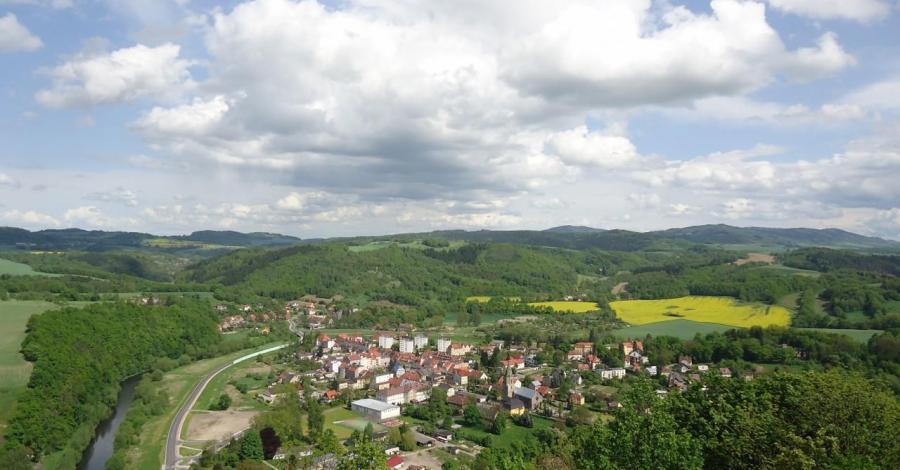 Panorama na Wleń, Ela