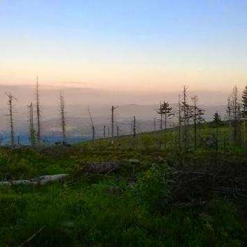Zachód Słońca-panorama z Baraniej Góry, DoRi