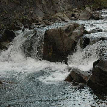 Wodospad Spad w Gorcach