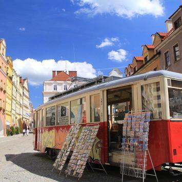 Zabytkowy tramwaj w Jeleniej Górze
