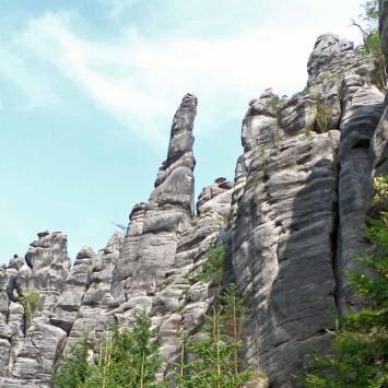 Skalne miasta - Teplickie skały