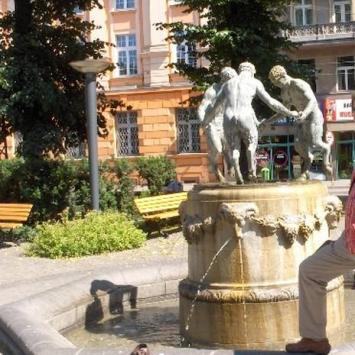 Fontana z faunami w Gliwicach