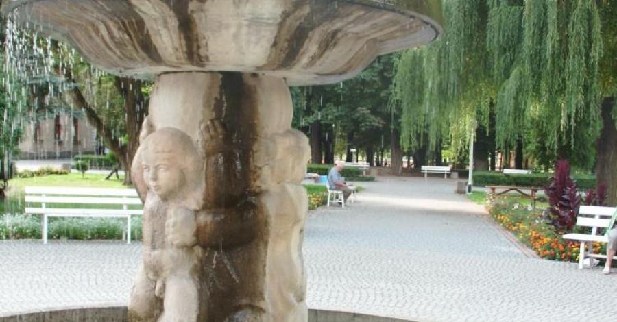Fontanna w Busku Zdroju - zdjęcie