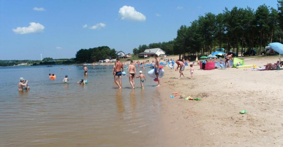 Plaże nad Jeziorem Chańcza w Korytnicy, mokunka