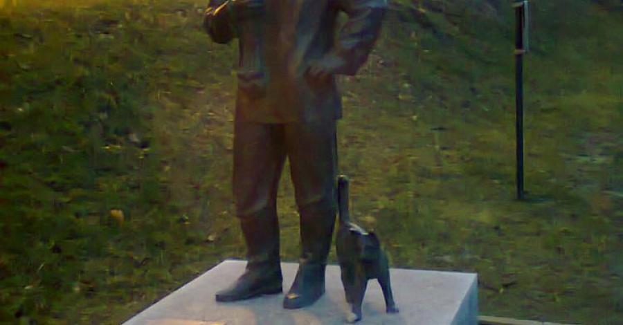 Pomnik Rybaka w Kartuzach - zdjęcie