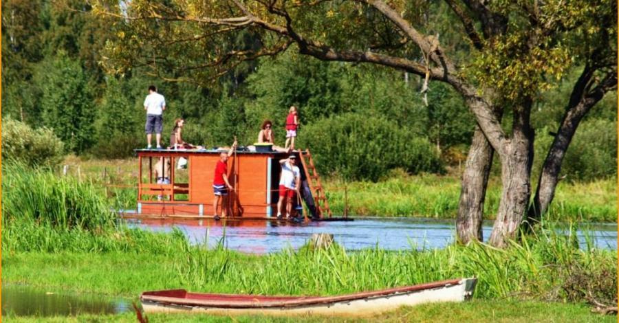 Spływ tratwą biebrzańską - zdjęcie