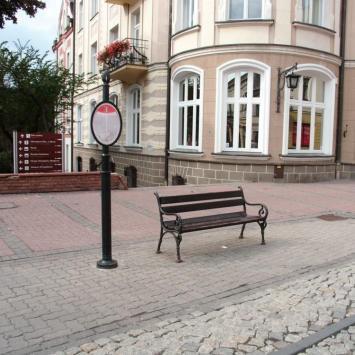 Replika przystanku tramwajowego w Tarnowie