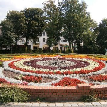 Zegar kwiatowy w Słupsku