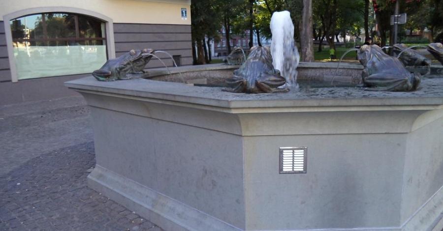 Fontanna z żabkami w Lęborku - zdjęcie