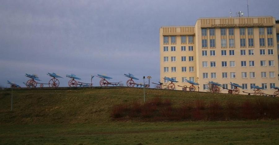 Płonące ptaki w Koszalinie - zdjęcie
