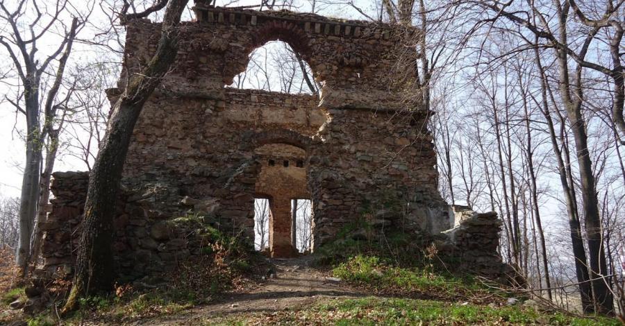 Ruiny zamku w Kostrzycy - zdjęcie