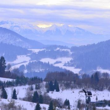 Widok z Palenicy na Tatry