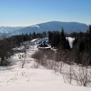 Beskid Śląski - Równica zimą