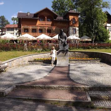 Szczawnica, Pomnik Sienkiewicza