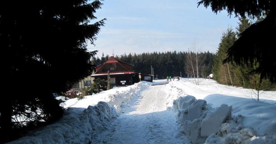 Beskid Śląski - Wielka Czantoria zimą - zdjęcie