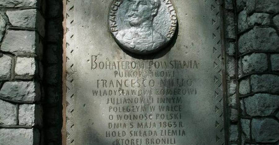 Pomnik Francesco Nullo w Krzykawce - zdjęcie