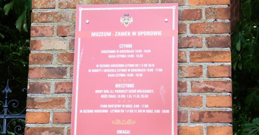 Zamek w Oporowie - zdjęcie