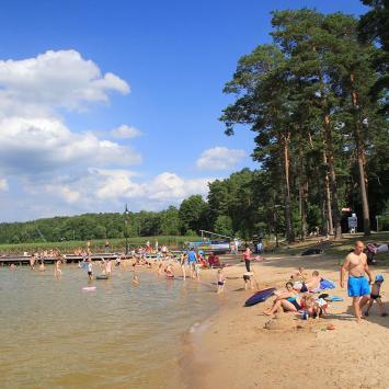 Plaża w Augustowie - zdjęcie