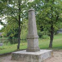 obelisk upamiętniający polowanie Augusta III Sasa z 1752 roku