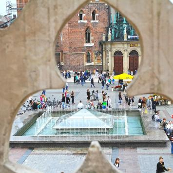 Fontanna na Krakowskim Rynku