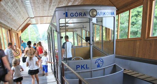 Kolej na Górę Parkową w Krynicy - zdjęcie