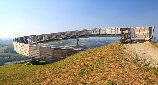 Ślimak czyli platforma widokowa w Beskidzie Sądeckim - zdjęcie