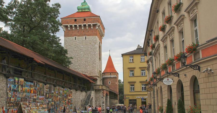 Brama Floriańska w Krakowie - zdjęcie