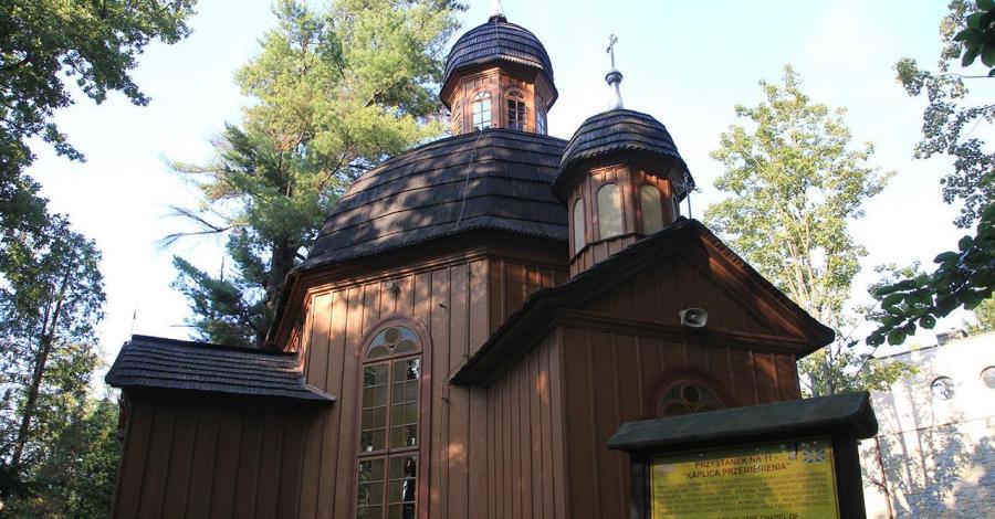 Drewniany kościół w Krynicy Zdroju - zdjęcie