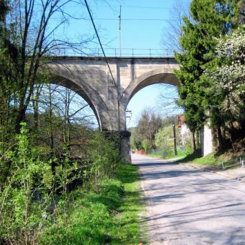 Most kolejowy w Wiśle Dziechcince