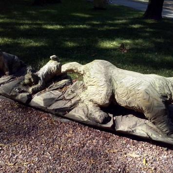 Rzeźby twórcow ludowych w parku