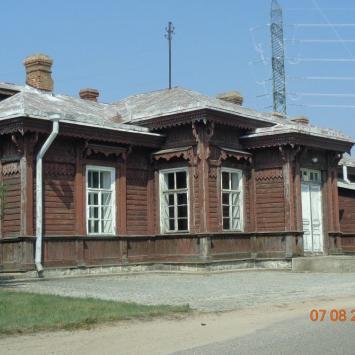Zabytkowy dworzec w Trakiszkach
