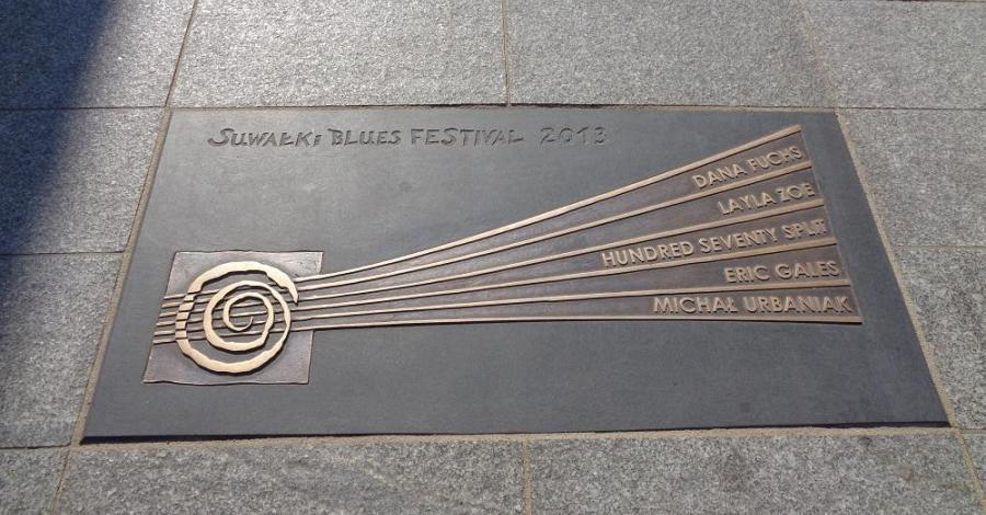 Aleja Gwiazd Bluesa w Suwałkach - zdjęcie