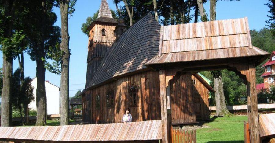 Drewniany kościół w Sromowcach Niżnych - zdjęcie