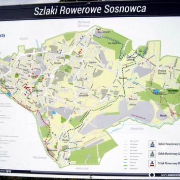 Szlaki rowerowe w Sosnowcu