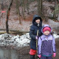 spacer nad Jezioro Czerniańskie w sniegu