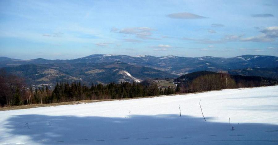 Beskid Śląski: Soszów Wielki, Stożek Wielki (zima). - zdjęcie
