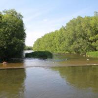 Rzeka Wisła w Ustroniu