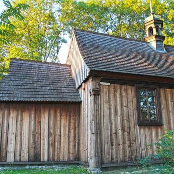Drewniany kościół w Busku Zdroju