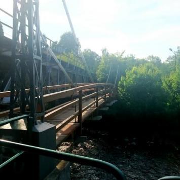 Huśtany mostek w Głuchołazach
